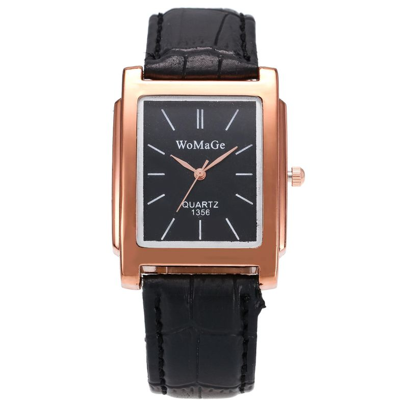 Fashion men and women square belt quartz watch business casual men's watch wholesale NHSY202019
