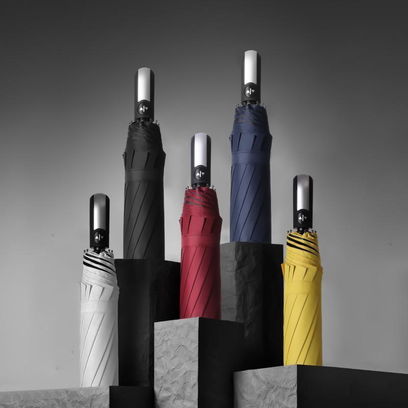 Automatic Umbrella Printing Vinyl Business Folding Umbrella Umbrella Sunny Umbrella NHNN202032