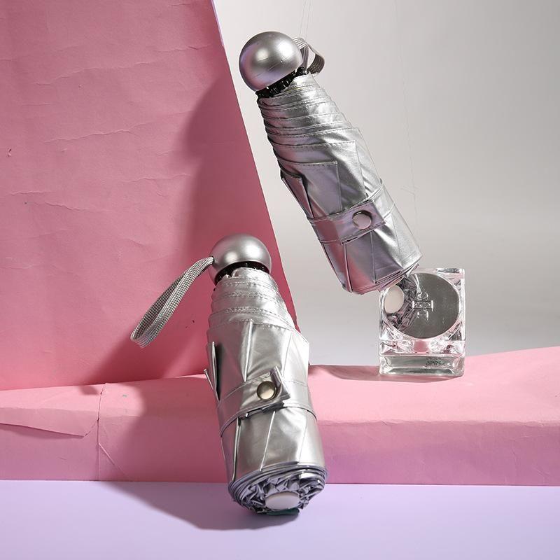 Titanium silver glue sunscreen sun umbrella 50% off capsule umbrella titanium silver custom advertisement NHNN202036