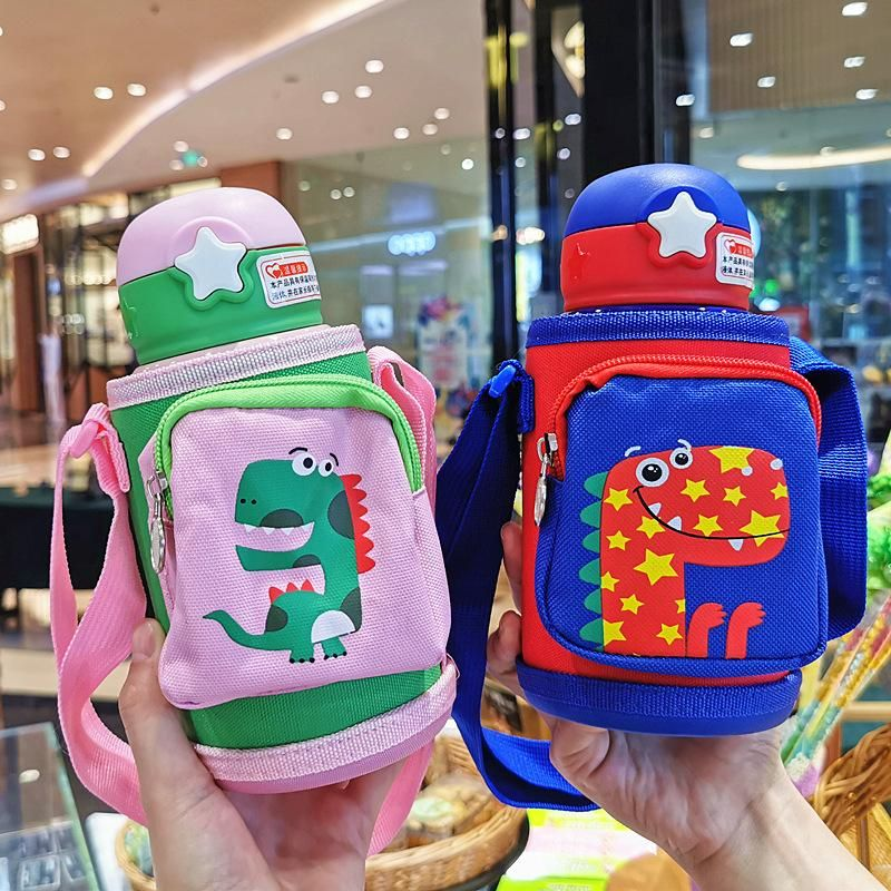 Children portable out of the kettle kindergarten stainless steel insulation cup baby cute cartoon water cup NHtn202049