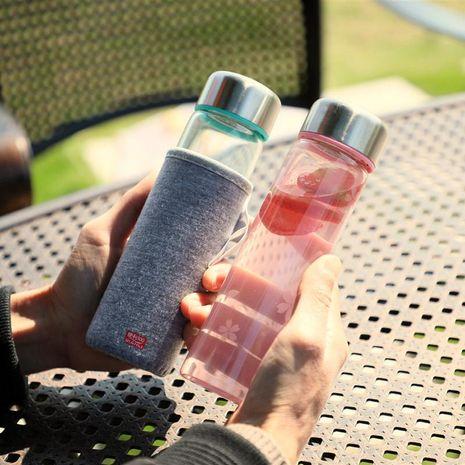Vaso de té creativo de vidrio coreano taza de agua taza de mano deportiva portátil NHtn202052's discount tags