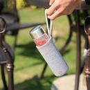 Vaso de t creativo de vidrio coreano taza de agua taza de mano deportiva porttil NHtn202052