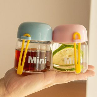 Small and cute glass Korean portable mini water cup simple hand cup small cup NHtn202078's discount tags