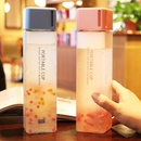 Student frosted largecapacity water bottle square cup portable dropresistant plastic cup NHtn202089