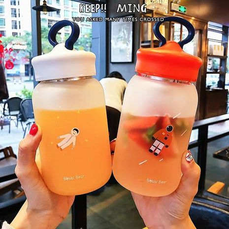 Frosted Cup Student Portable Tea Separator Phone Holder Cute Handy Cup NHtn202090's discount tags