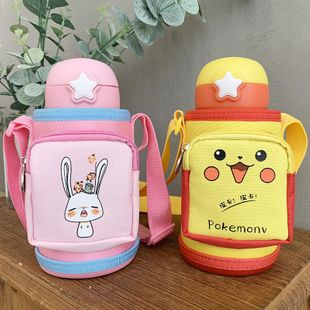 Children's cartoon cute stainless steel 316 insulated cup baby sippy cup with cup set portable water cup NHtn202095's discount tags