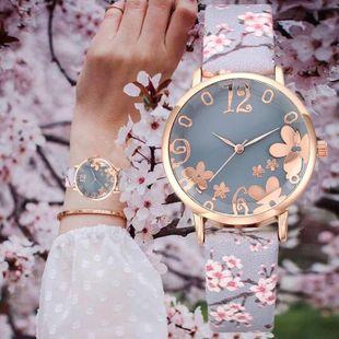 Nueva moda para mujer reloj correa reloj estéreo impreso reloj de cuarzo al por mayor NHLN202108's discount tags