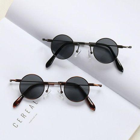 Nueva moda gafas de sol redondas marco pequeño nuevas gafas de sol de hip hop al por mayor NHKD202117's discount tags