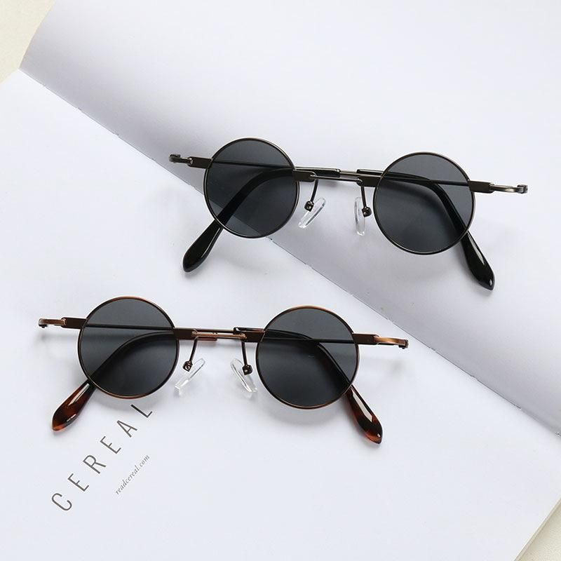 New fashion round sunglasses small frame new hip hop sunglasses wholesale NHKD202117