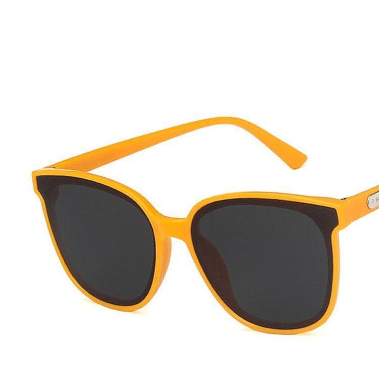 New Fashion Orange Square Sunglasses New Korean Sunglasses Wholesale NHKD202120
