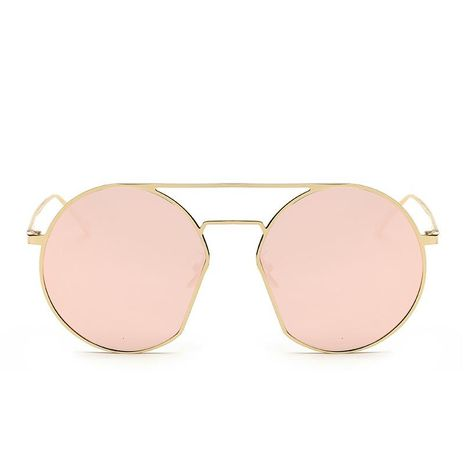 Korean fashion metal round frame sunglasses colorful street shooting women's sunglasses NHFY202139's discount tags