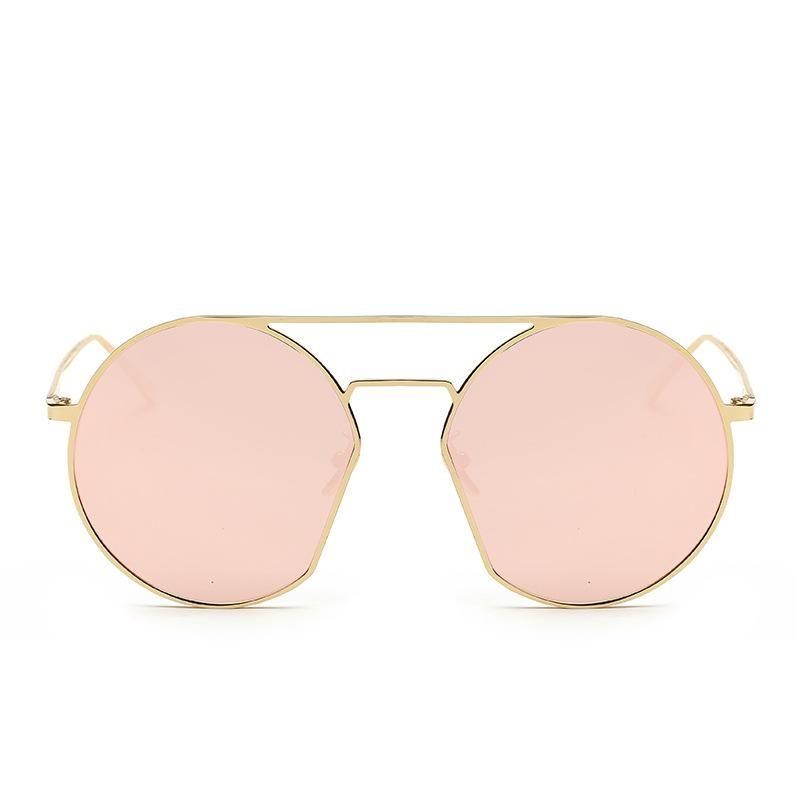 Korean fashion metal round frame sunglasses colorful street shooting women's sunglasses NHFY202139