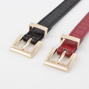 New stone pattern women's gold buckle belt wild casual pin buckle jeans belt women NHPO202144's discount tags