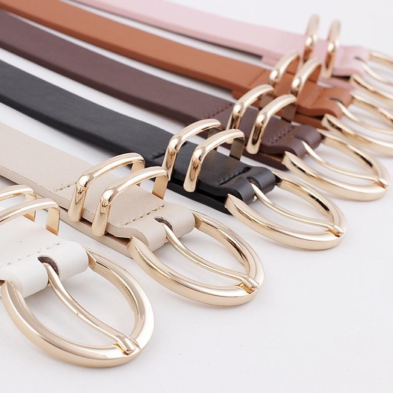 New women's decorative jeans belt wild fashion pin buckle simple pants belt NHPO202147