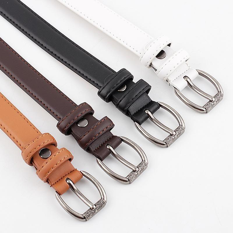 Vintage pin buckle women's belt casual decorative dress jeans belt women NHPO202148