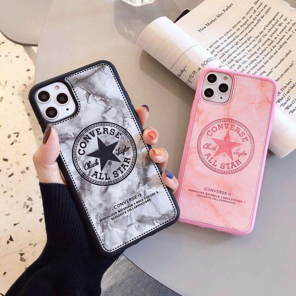 Estuche para teléfono Apple XSMAX de mármol de imitación de cuero para 7 / 8plus Estuche blando para iPhoneX personalizado 6splus NHHC202227