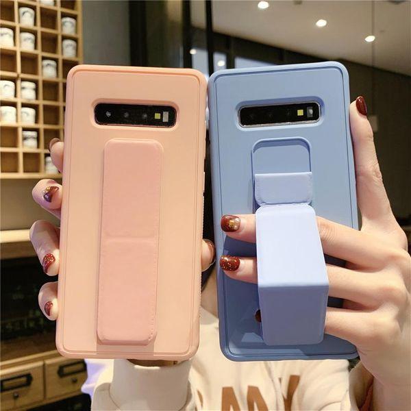 Pulsera creativa Samsung note10 funda para teléfono móvil soporte para automóvil s10plus color sólido s8 + color sólido s9 + carcasa protectora NHHC202232