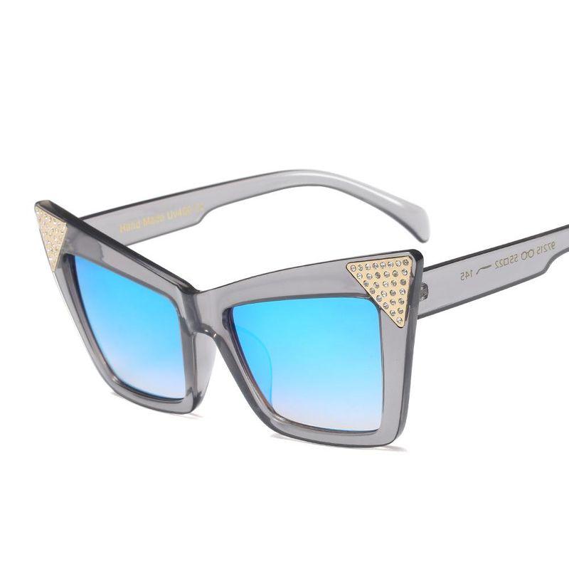 Sunglasses Fashion Big Frame Cat Eye Sunglasses Trend Rhinestone Colorful Butterfly Sunglasses NHFY202137