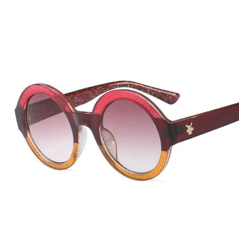 New round frame children sunglasses fashion children sunglasses reflective glasses NHFY202134