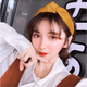 Korean simple new bandaged knotted wide side wide side pu leather simple solid color cheap headband lady NHSC202434