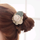 Korean fashion lace silk leaves rose flower hair ring cheap hair rope NHSC202431