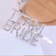 Korean metal flash diamond double row letter hair clip hair accessories flash diamond letter hair clip side clip word clip NHSC202430