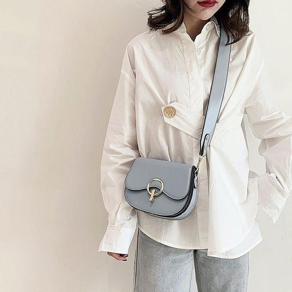 Small bags for women new Korean wild wide shoulder strap Messenger bag fashion retro shoulder bag cheap NHTC202241