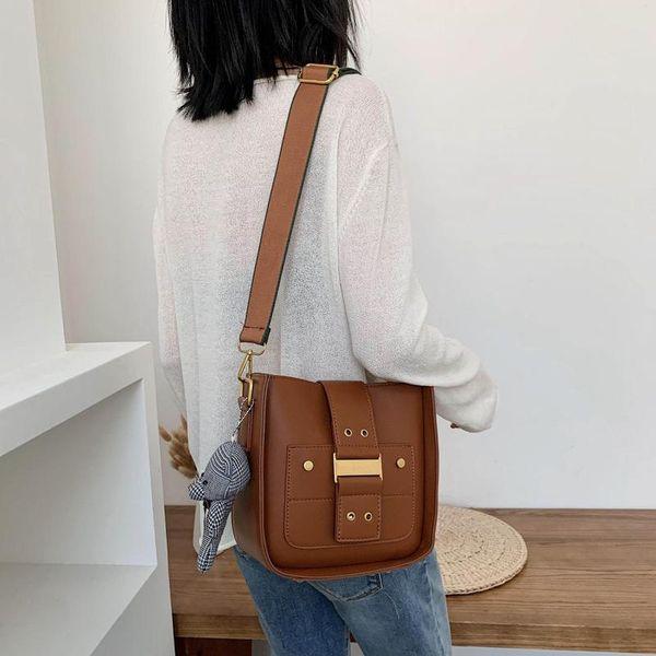 Women's bags small bags spring Korean retro shoulder bag simple wild messenger bag cheap NHTC202245