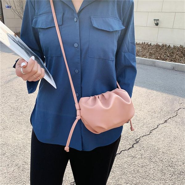 Small bag new Messenger bag female cloud bag chic flat fold shoulder bag yiwu wholesales NHTC202274