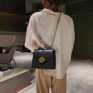 Bags New Fashion Chain Contrast Color Messenger Bag Korean One Shoulder Small Square Bag NHTC202285's discount tags