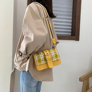 Retro Plaid Small Square Bag New Crossbody Shoulder Bag wholesales yiwu NHTC202312's discount tags
