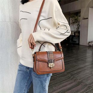 Retro small bag women's new fashion messenger bag Korean shoulder small square bag NHTC202320's discount tags