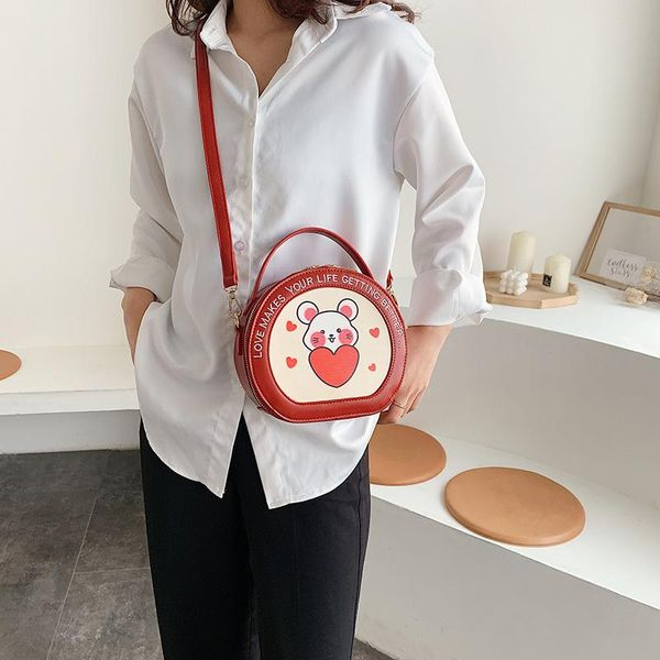 Contrast color bag for women new Korean fashion casual shoulder slung small round bag suppliers china NHTC202334
