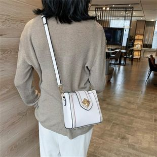 Women's new red thin shoulder bucket bucket bag shoulder messenger bag wholesales yiwu NHTC202358's discount tags