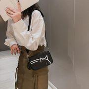 Small black bag Messenger bag small bag female bag new Korean fashion wide shoulder strap shoulder small square bag NHTC202362