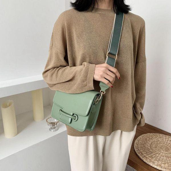 Trendy bags for Women New Fashion Broadband Messenger Bag Korean One Shoulder Small Square Bag wholesales yiwu NHTC202371