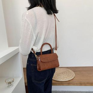 Fashion casual one-shoulder women's bag spring new portable small bag small square bag NHTC202382's discount tags