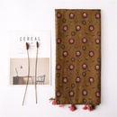 Cotton scarf with turmeric flower decoration silk scarf travel sun shawl yiwu wholesales NHGD202402