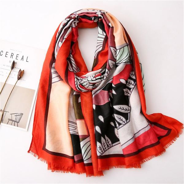 Scarf for women new Korean wild jungle hit color travel vacation shawl long scarf NHGD202405