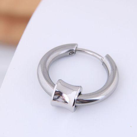 Earrings men's single men's simple earrings titanium steel simple men's earrings wholesales yiwu NHSC202745's discount tags