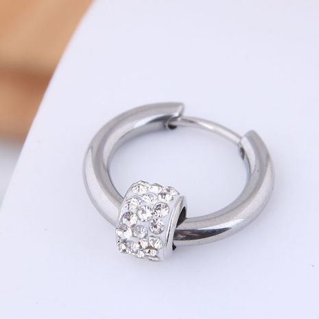 Aretes simples para hombres pendientes para hombres pendientes simples de diamantes de acero de titanio para hombres NHSC202744's discount tags