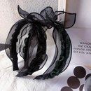 New retro fungus blanking organza rabbit ears simple hair hoop suppliers china NHHI202498