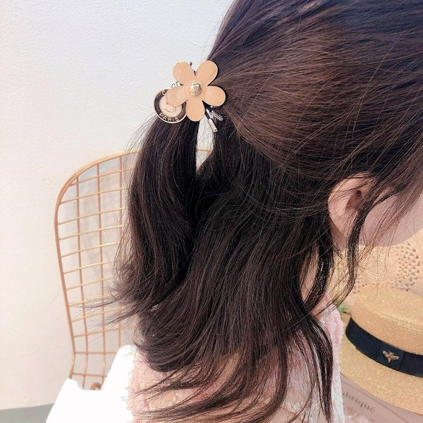 Wild Korean new simple flower pendant double-layer wild rubber band cheap headdress NHHI202507