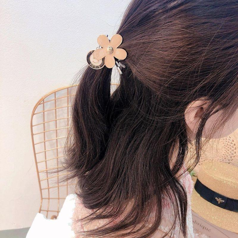 Wild Korean new simple flower pendant double-layer wild rubber band cheap headdress NHHI202507