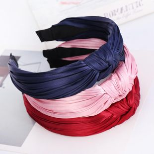 Knotted Wrinkled Headband Pure Color Wrinkled Headband suppliers china NHHV202534's discount tags