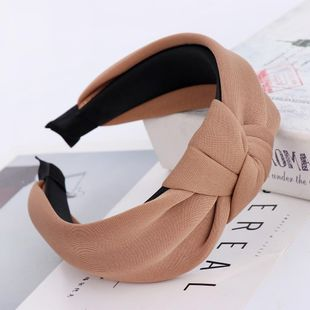 New candy-colored space cotton knotted ladies hair hoop Korean solid color simple hair accessories suppliers china NHHV202535's discount tags