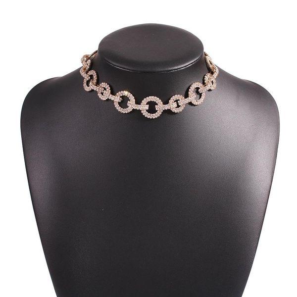 Fashion new diamond ring necklace full diamond bride necklace accessories women NHMD202538