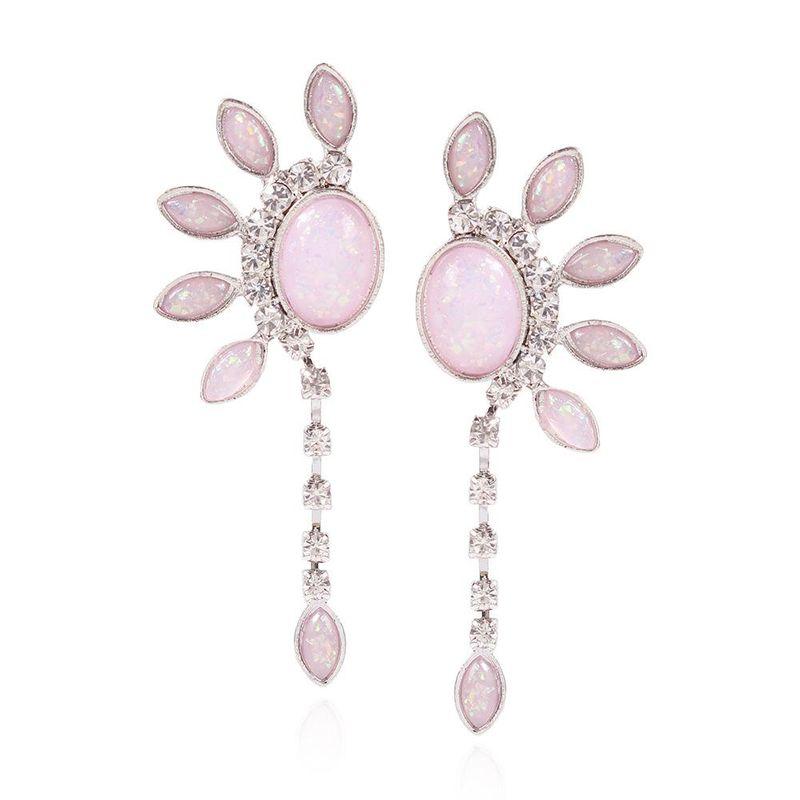 Spring new fresh resin long earrings fashion sweet elegant earrings women NHMD202540