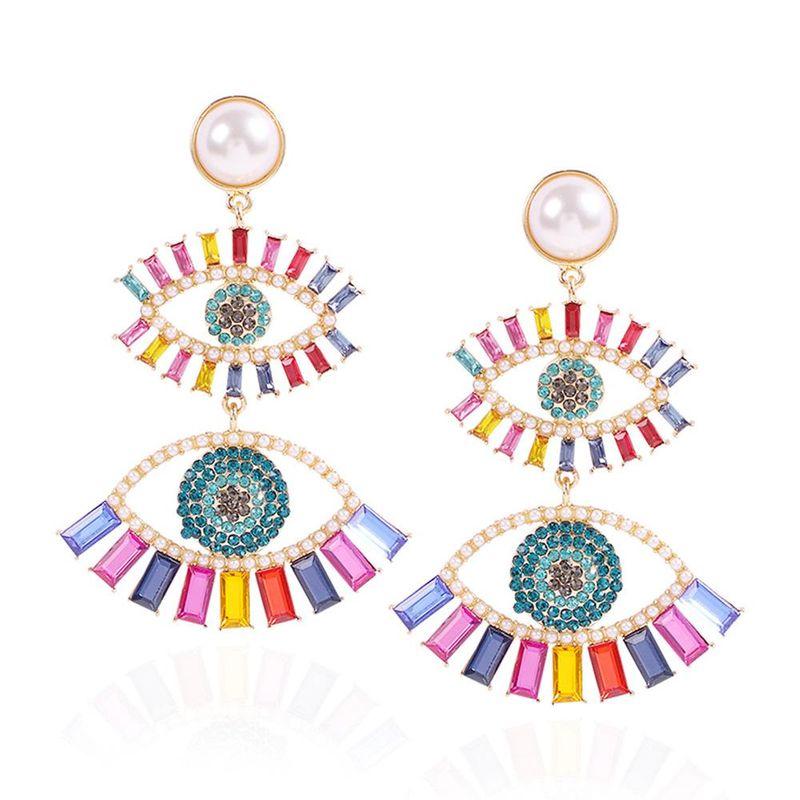 Fashion earrings for women new devil's eye series earrings fashion diamond color earrings women NHMD202543