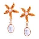 Pendientes de moda para mujer pendientes de acetato diseo de moda azul estrella de mar pendientes de diamantes mujeres NHMD202545